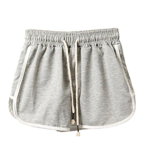 Nylon Panties Fancy Pants (Yoga Shorts for Womens, FORUU Lady Summer Sport Gym Running Beach Leggings Pants (2XL, Gray))