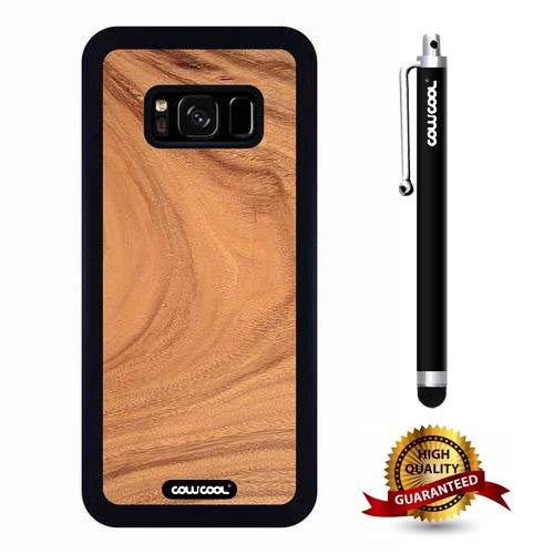 Galaxy S8 Case, Wood Texture Case, Cowcool Ultra Thin Soft Silicone Case  for Samsung Galaxy S8 - Root Slice Wood Texture