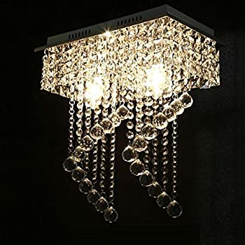 Hile lighting ku300074 modern chandelier crystal ball fixture surpars house flush mount 2 light crystal chandelier length15 width787 height153silver aloadofball Images