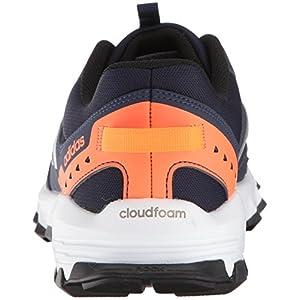 adidas Men's Rockadia Trail m Running Shoe, Collegiate Navy, Matte Silver, Solar Orange, 10.5 M US