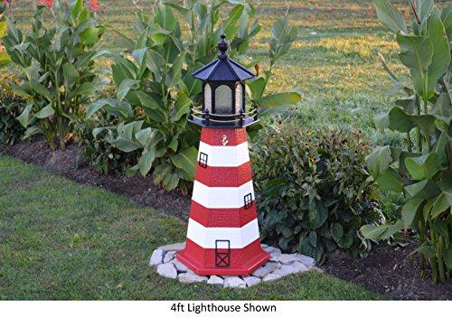 Backyard Crafts Amish-Made Assateague, VA Replica Lighthouse, 48