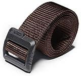 full refund - CQR CQ-MZT01-BRN_L(w36-38) Tactical Belt 100% Full Refund Assurance Nylon Webbing EDC Duty 1.5