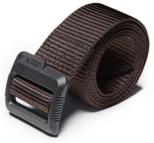 "CQR CQ-MZT01-BRN_XL(w40-42) Tactical Belt 100% Full Refund Assurance Nylon Webbing EDC Duty 1.5"" Belt MZT01"
