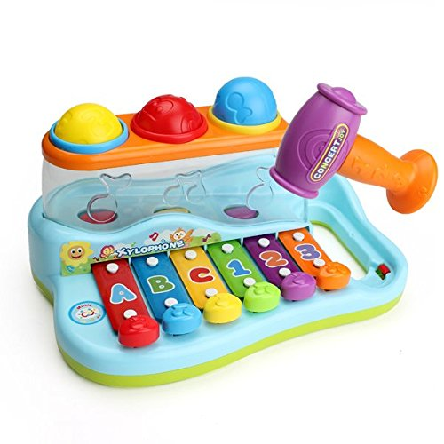 Baby Child Kids Hammer Knock on Piano Toy Xylophone Music...