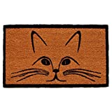 Home & More 121321729 Purrfection Doormat, 17'' x 29'' x 0.60'', Natural/Black