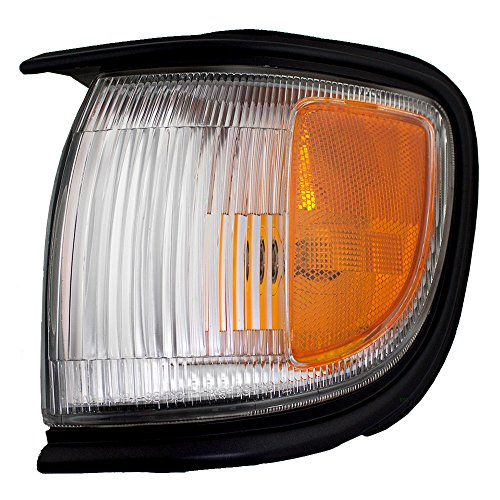 Drivers Front Corner Signal Side Marker Light Lamp Lens with Black Trim Replacement for Nissan SUV 261150W026 AutoAndArt