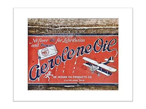 Vintage Airplane Ad Art Print 8x10 Matted Desk Photo