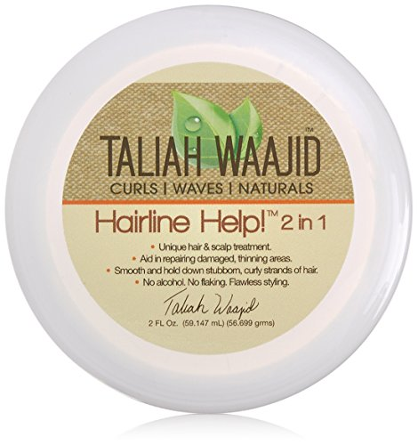 Taliah Waajid Curls, Waves and Naturals Hairline Help 2 in 1 Hair Care, 2 Ounce (Best Protective Styles For Natural Hair)