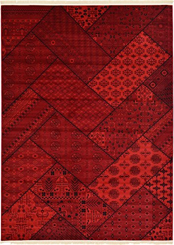 Traditional Bokhara Collection Area Rugs Red 8′ x 11′ FT Traditional rugs for living room – rugs for dining room & bedroom – Floor Carpet Home Décor