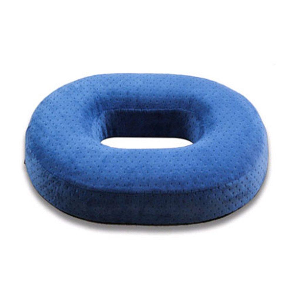 Starter buttocks-beautifying sedile cuscino in memory foam ad alta resilienza ovale anti–emorroidi cuscino sedia da ufficio decompressione Hollow per divano, sedia, sedia da ufficio, Tatami Coffee