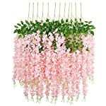 UArtlines-24-Pack-36-FeetPiece-Artificial-Fake-Wisteria-Vine-Ratta-Hanging-Garland-Silk-Flowers-String-Home-Party-Wedding-Decor-Extra-Long-and-Thick-24-Light-Pink