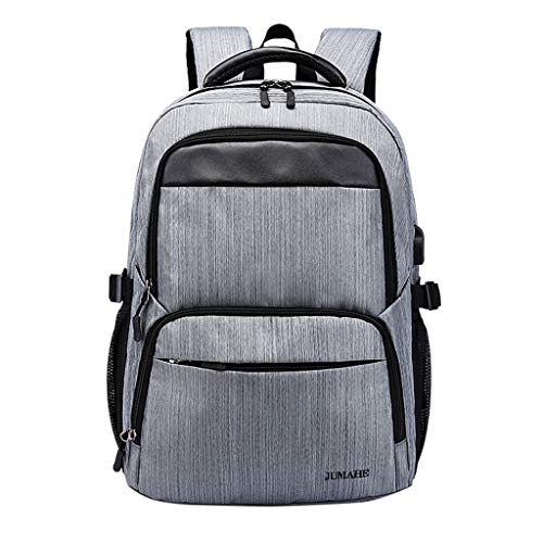 Business Bag Outdoor Travel Boarding Backpack Large Capacity Casual Laptop Daypack USB Bookbag (Gray) ()