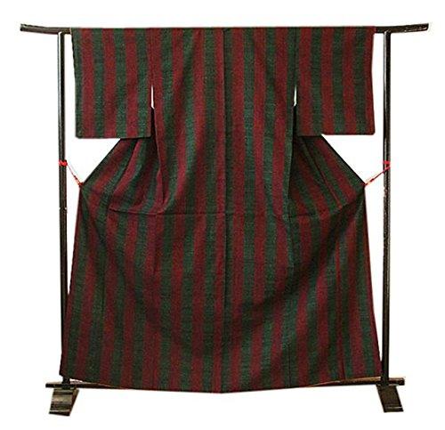 博多着物市場 きものしらゆり 本場 無形文化財品 結城紬 イザリ織 80亀甲絣 正絹 仕立て上り