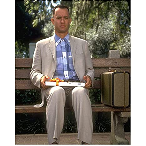 premium selection 7841f 984bb Tom Hanks as Forrest Gump in Forrest Gump Sitting Hands Resting on Lap  Looking Sharp Closer Up Shot 8 x 10 Inch Photo at Amazon s Entertainment  Collectibles ...