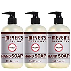 Mrs. Meyer's Clean Day hand soaps are specifically made to clean and freshen hands without drying, while also providing a special, singular scent for your entire home. Lavender has long been prized for its original and clean floral scent. Suc...