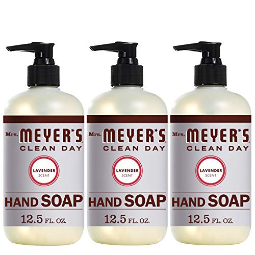 Mrs. Meyer's Clean Day Liquid Hand Soap, Lavender Scent, 12.5 ounce bottle (Pack of 3)]()