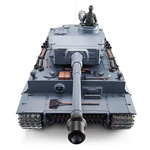 TIEHUE Child Tank Toys RC Remote Control Tank, German Tiger I Heavy Tank 2.4Ghz Remote Control 1/16 Scale Model, Metal…