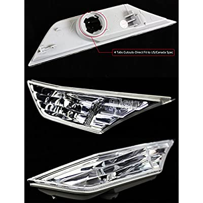 Fits for 2016-2020 10th Honda Civic RS Style JDM Clear Lens Fender Bumper Side Marker Lamps Light: Automotive