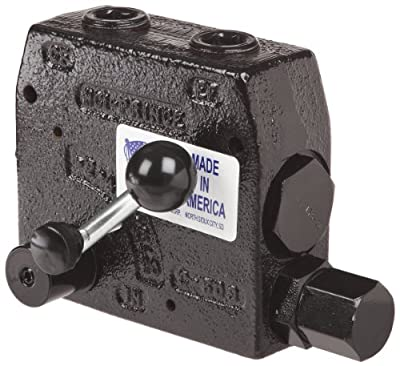 "Prince RDRS-175-30 Flow Control Valve, Adjustable Pressure Relief, Cast Iron, 3000 psi, 0-30 gpm, 3/4"" NPTF by Prince Manufacturing"