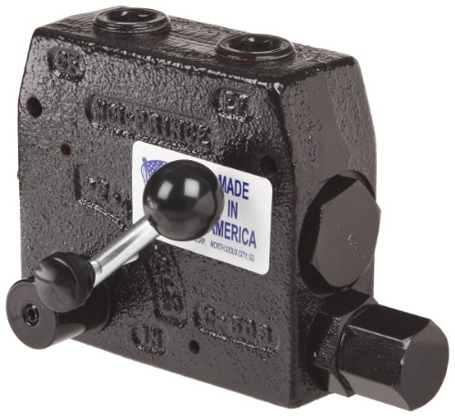 (Prince RDRS-175-30 Flow Control Valve, Adjustable Pressure Relief, Cast Iron, 3000 psi, 0-30 gpm, 3/4