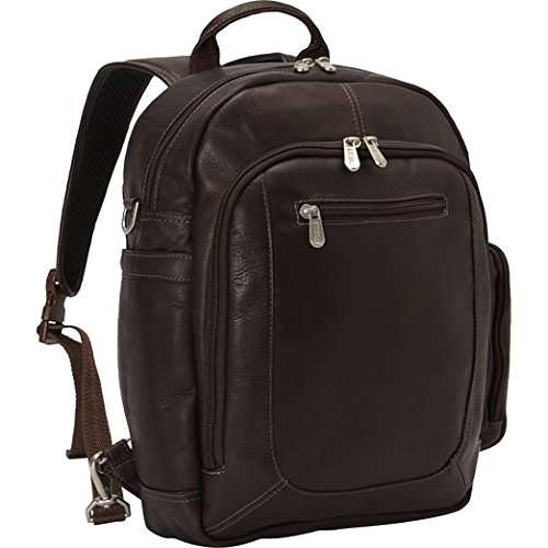 Piel Leather Laptop Backpack/Shoulder Bag, Chocolate ()