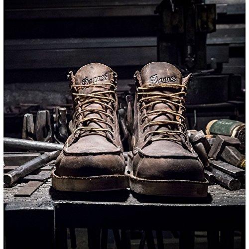 Danner Bull Run Moc Toe 6 Marrone Lavoro (15563) Stivali Olio E Antiscivolo | Stivali Di Pelle Da Lavoro Con Tomaia In Pelle Ingrassata | Realizzato Nel Moderno Stivale Da Combattimento Battlefield