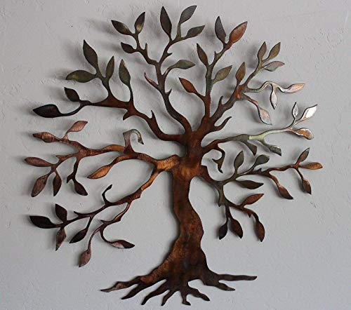 Olive Tree Metal Wall Art