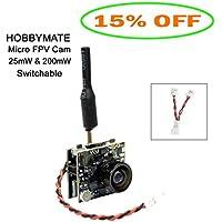 HOBBYMATE Micro FPV Camera AIO VTX 25mW/200mW Switchable, NTSC/PAL for RC Racing Quadcopter Drone