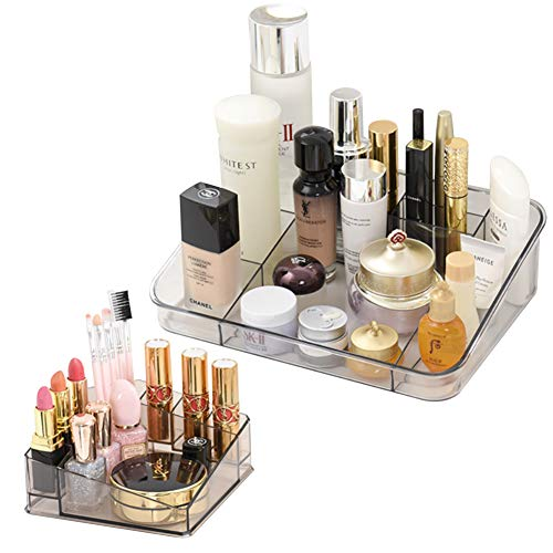 2 Pack Clear Makeup Organizer Lipstick Organizer Great for Bathroom Vanity Counter Tops