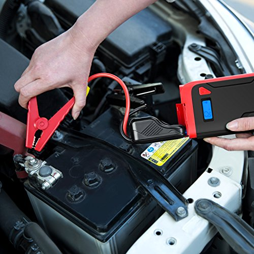 Car Jump Starter, BESTEK 400A 12000mAh 12V Portable Auto Battery Booster Pack, Power Bank with Dual USB Ports LED Light LCD Screen by BESTEK (Image #6)