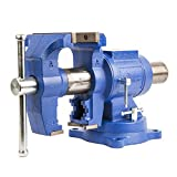 Forward DT08125A 5-Inch Bench Vise 360 Degree Swivel Base Heavy Duty with Anvil (5')