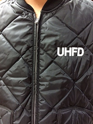 UHFD Thermal Lined Vest 2XL Black WITH EMBROIDERY