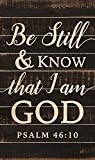 Be Still & Know I am God White Letters on Black 47 x 28 Wood Large Barn Board Wall Art Sign Plaque