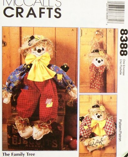 McCall's 8388 Crafts Sewing Pattern Scarecrow Doll Wreath Wall -