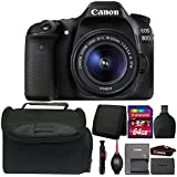 Canon EOS 80D 24.2MP DSLR Camera with 18-55mm Lens and Accessory Kit