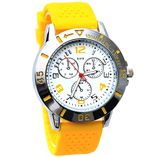 """Silicon2 Rose Red """"Cat Face"""" Candy Sweet Summer Platinum Cz Accented Silicon Rubber Sports Quartz Silicon Wrist Watches"""