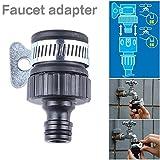 Faucet To Hose Quick Connector Set, Universal Plastic Faucet Adapter Car Wash Facet Connector Clamp