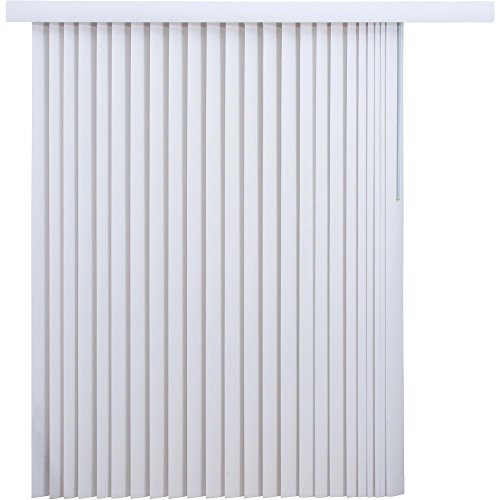 78″ x 84″ Light-Filtering Vertical Blinds, White