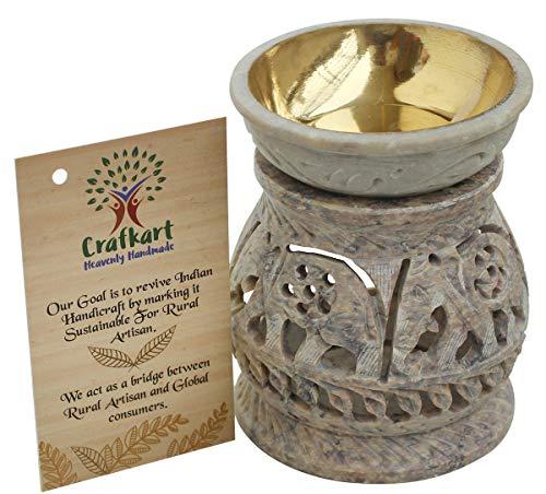 Crafkart Weekend Deals on Natural Hand Carved Stone Tea Light Holder, Aromatherapy Essential Oil Warmer Burner Candle Holder Furnace Diffuser Home Decorative for Spa Yoga Meditation