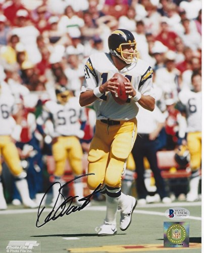 Dan Fouts Signed San Diego Chargers 8x10 Photo with - Beckett Certified
