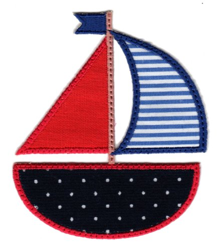 UPC 812037020766, PatchMommy Iron On Applique Patch, Sailboat - Kids Baby