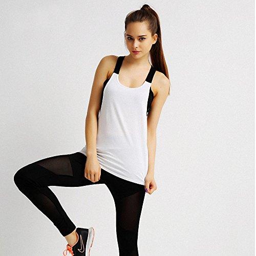 Aileese Outdoor Offenem Aktiv Workout Sport Tank Frauen Run Leibchen Weste Top Mit Schwarz Yoga BH lFK1cJ