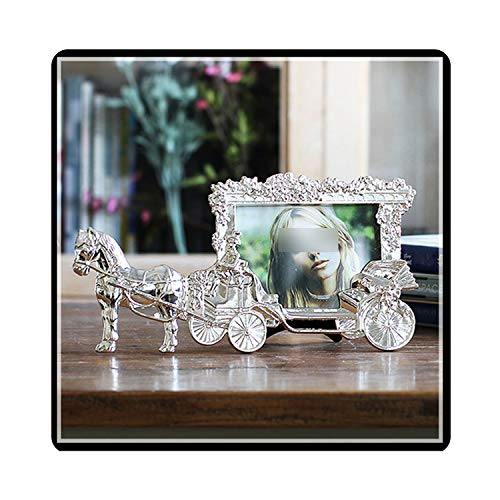 Classic Horse Carriage Photo Frames for Picture European Foto Frame Table Decor