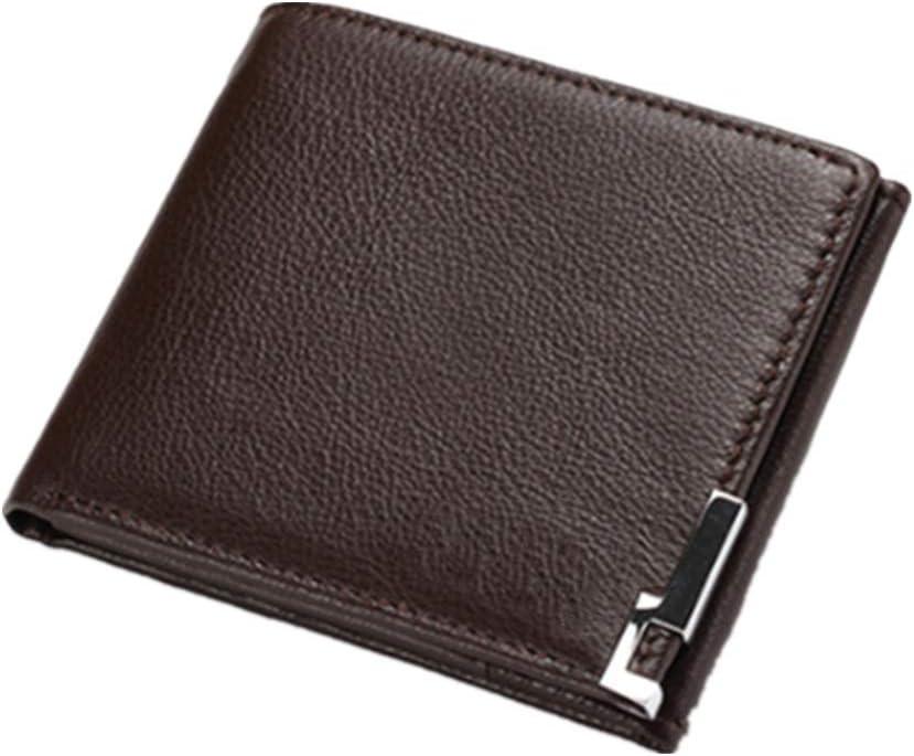 Dfghbn - Cartera de piel para hombre con bloqueo RFID para tarjetas de crédito, cartera corta para viajes, regalo para cumpleaños, Navidad o aniversario de boda, piel sintética, café, 9.5x11.5x1.5cm