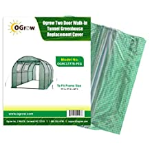 Ogrow Greenhouse Replacement Cover, Green