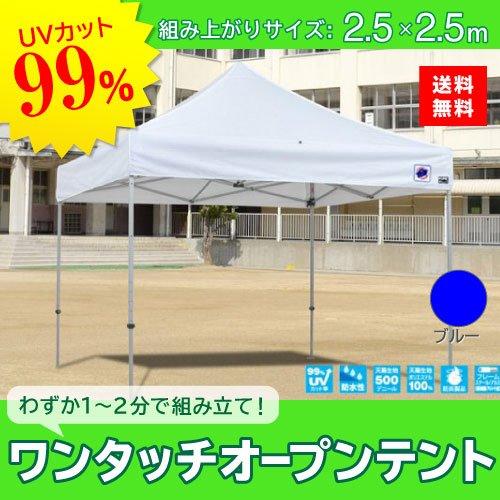 E-ZUP イージーアップ イージーアップテント 組み立てテント デラックス(アルミタイプ) [DXA25-17BL] 2.5m×2.5m 天幕色:青 ブルー 防水 防炎 紫外線カット99% B07BT7LBGY
