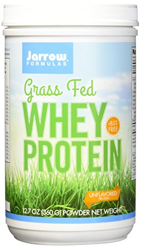 Jarrow Formulas Whey Protein Grass Fed, Sports Nutrition, Unflavored, 360 g
