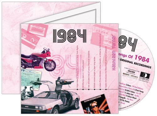 1984 The Classic Years CD Greeting Card : 35th Birthday or 35th Anniversary Memento