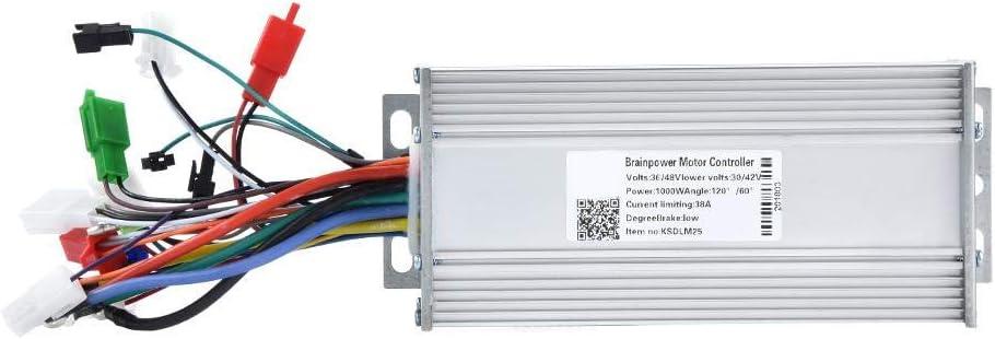 Alomejor Contr/ôleur sans Balai 800 W Alliage daluminium Contr/ôleur de Vitesse /électrique sans balais /élev/é pour v/élo /électrique V/élo Scoooter 24V//36V//48V