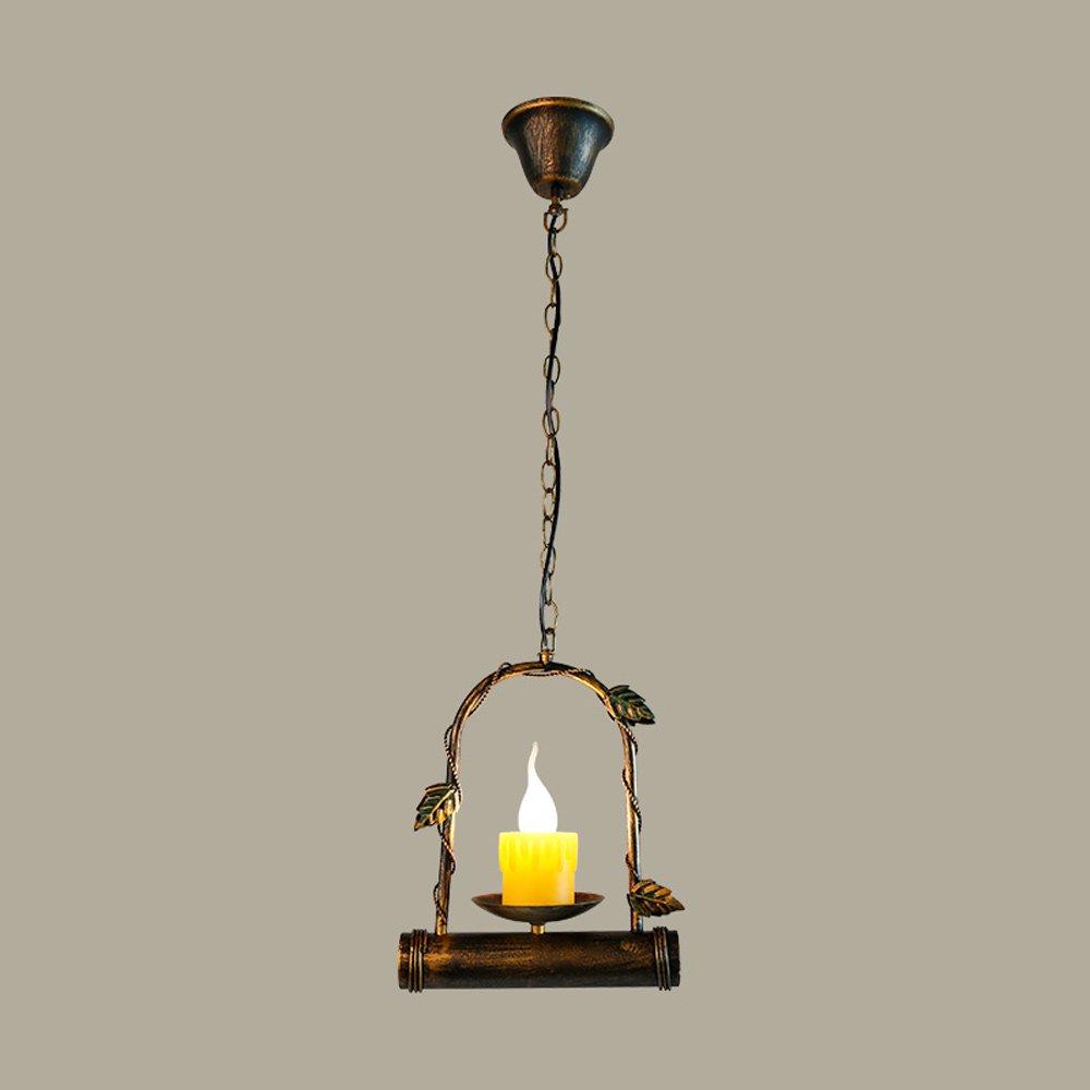 Kreative Deckenleuchte American Village Swing Eisen Kronleuchter Retro Nostalgische Kerze Pendelleuchte
